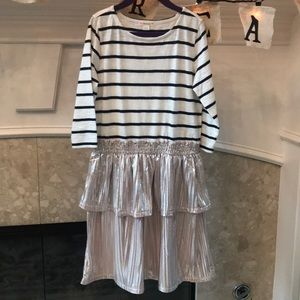 NWOT Striped Mixed Fabric Dress 8